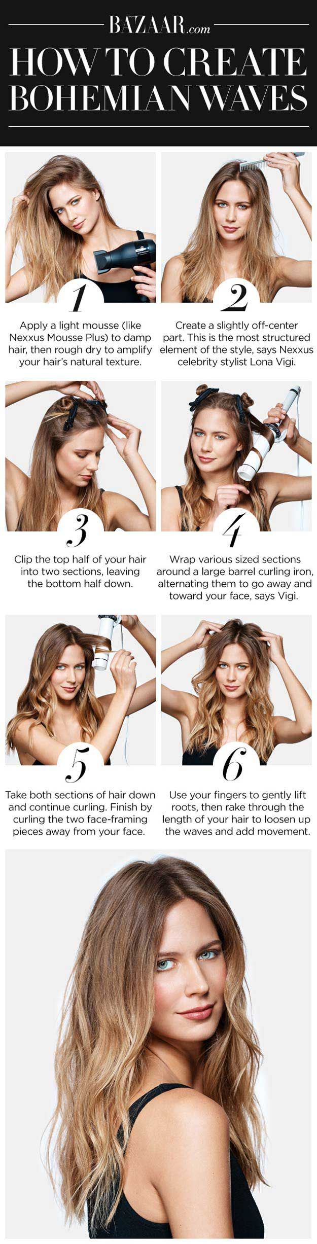 Best Hairstyles for Summer - How to Create Bohemian Waves - Easy and Cute Hair S...