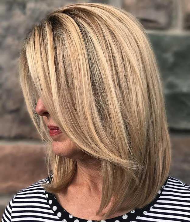 Best Hairstyles For Your 40s - Long Bob - Most Flattering Haircuts And Hairstyle...