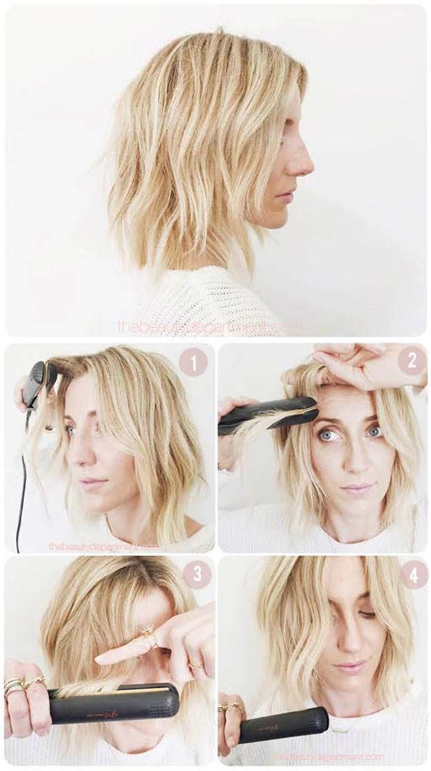Cool Hairstyles You Can Do With Your Flat Iron - Mapping Out Flat Iron Waves - E...