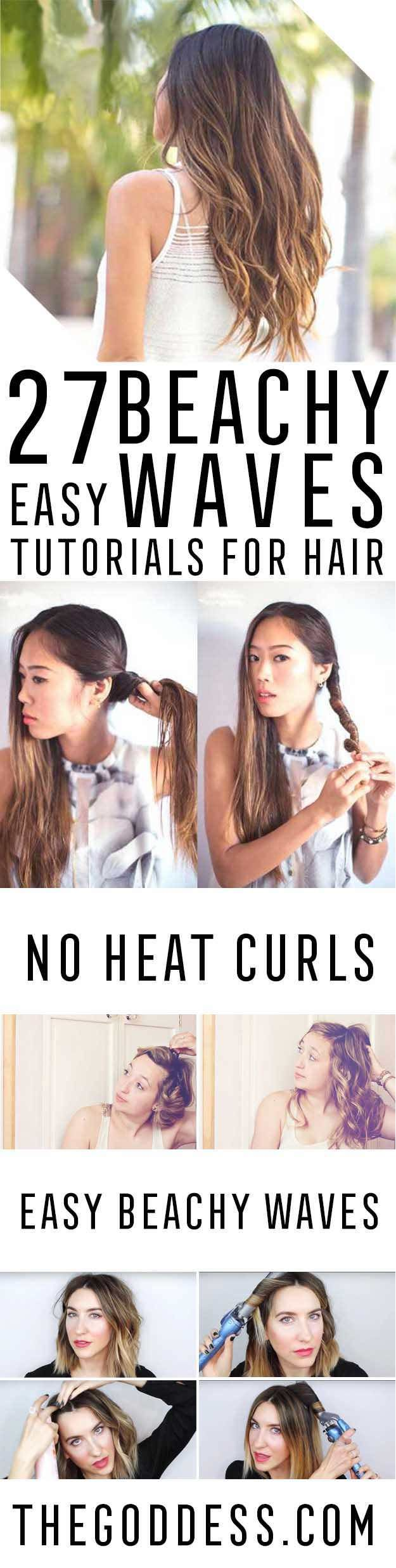 Easy Beachy Waves Tutorials for Hair - DIY And Easy Step By Step Tutorial For Sh...