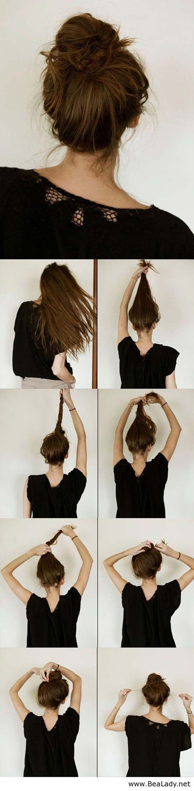 Festival Hair Tutorials - Super Easy Knotted Bun Updo For Concerts - Short Quick...