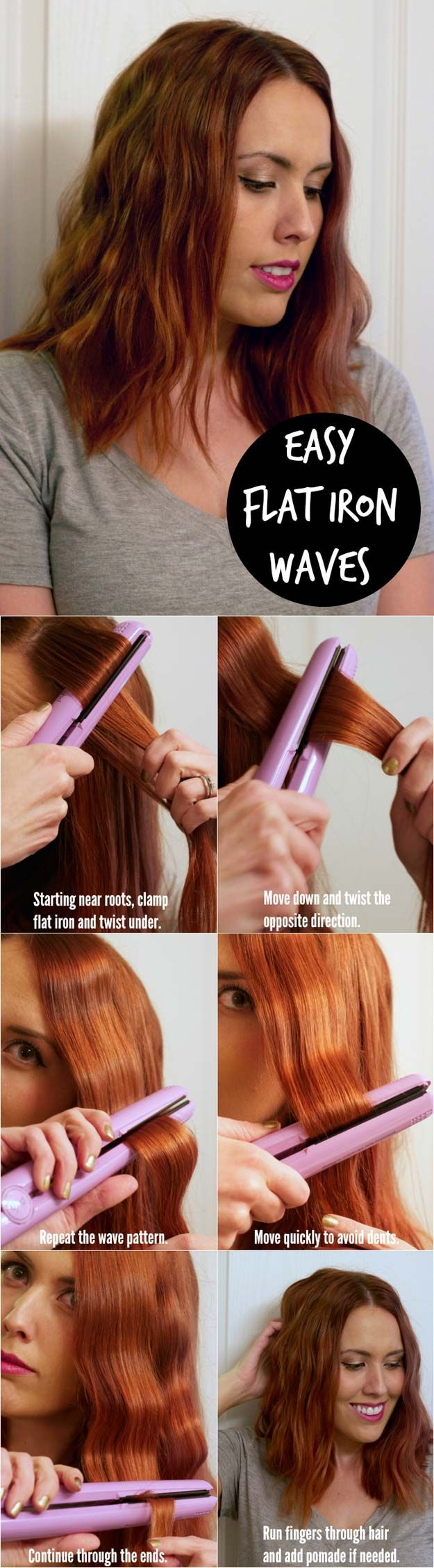 Hair Straightening Tutorials - Easy Flat Iron Waves Tutorial -Looking For The Be...