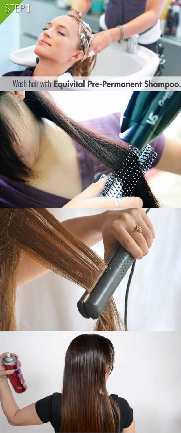 Hair Straightening Tutorials - How to Get Perfect Straight Hair: 8 Easy Steps -L...