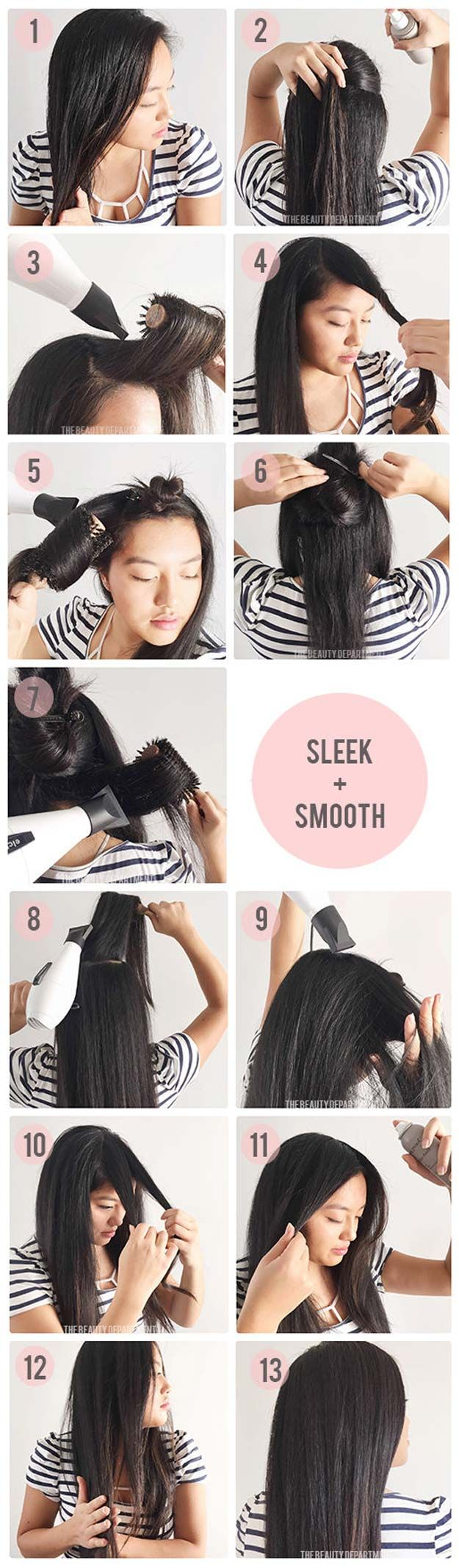 Hair Straightening Tutorials - Long-Lasting Frizz Control Blow-Dry -Looking For ...