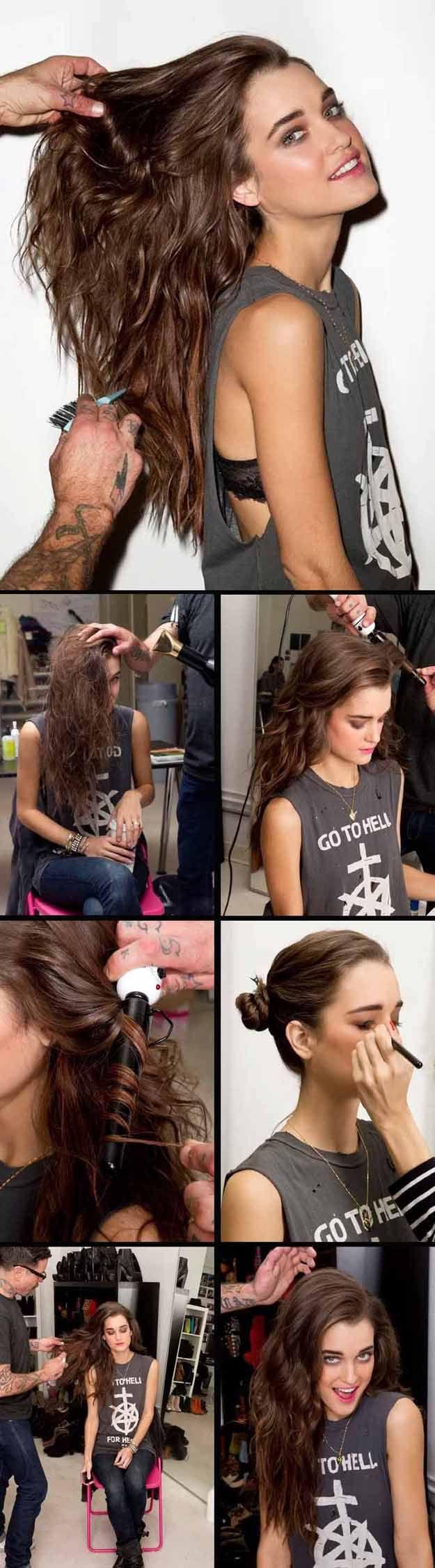 Long Wavy Hairstyles - Big Messy Waves - Beautiful Long Layered Haircuts And Lon...