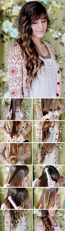 Long Wavy Hairstyles - How to Style Beachy Waves - Beautiful Long Layered Haircu...