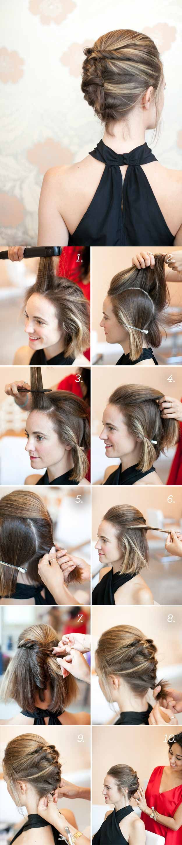 Super Sexy Hairstyles- Textured French Twist Tutorial - Easy Hair Styles For Lon...