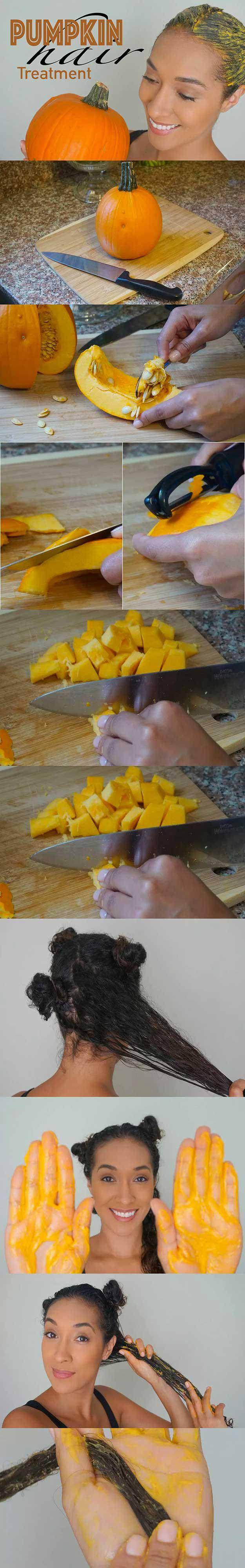 Tips and Tricks For Long, Healthy Hair - Healthy Hair Diet Pumpkin Deep Conditio...