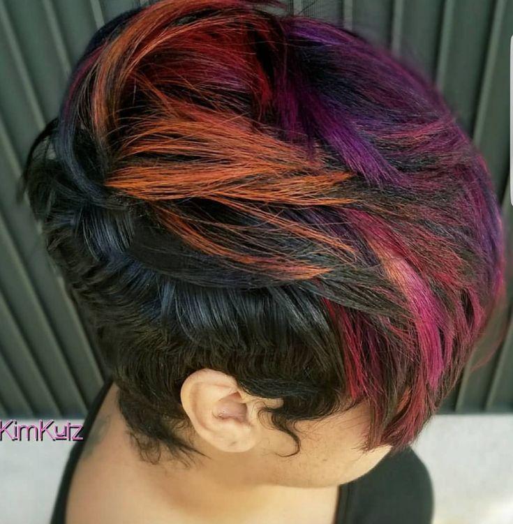 Beautiful colors via @hairartist_kimkutz - blackhairinformat...