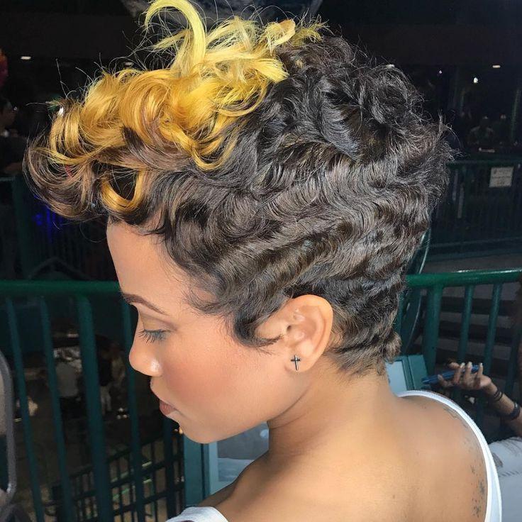 Dope cut and color Kisha Jefferson - blackhairinformat...