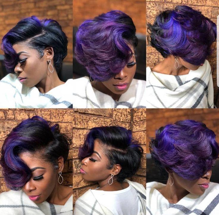 Gorgeous purple by @artistry4gg - blackhairinformat...
