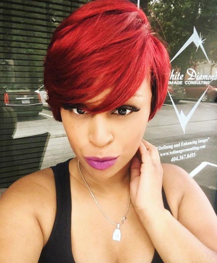 Pretty red via @hairbylatise - blackhairinformat...