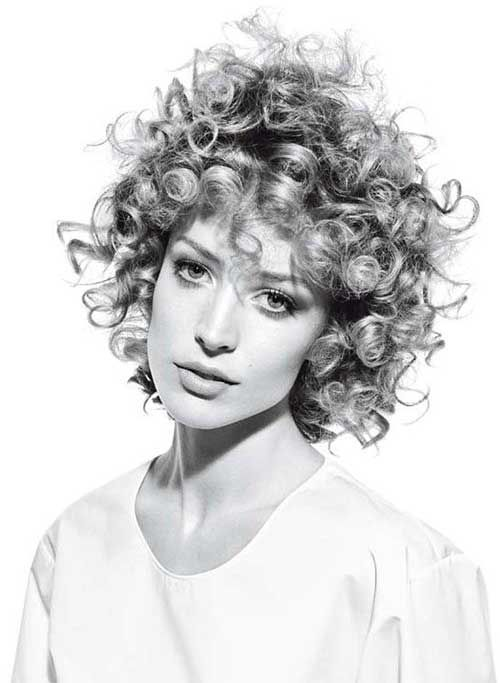 12.Short Curly Hairstyle
