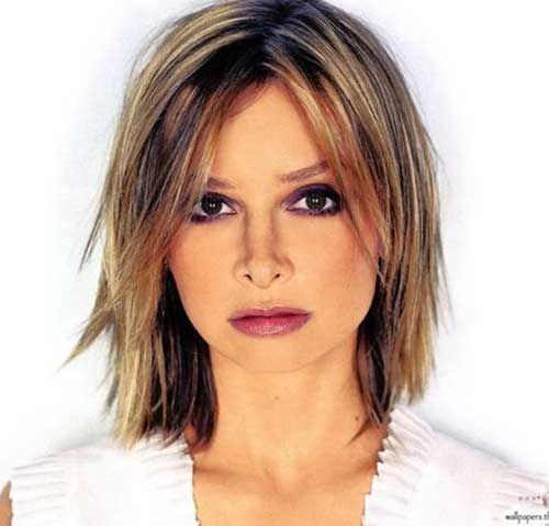 Best Short Hairstyle for Round Face