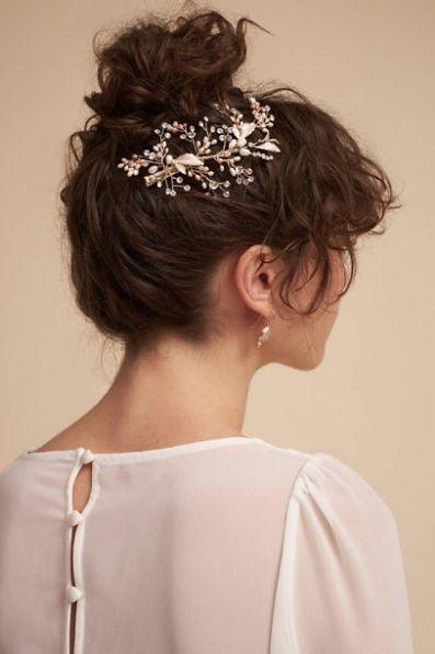 Courtesy of BHLDN; Wedding hairstyle idea.