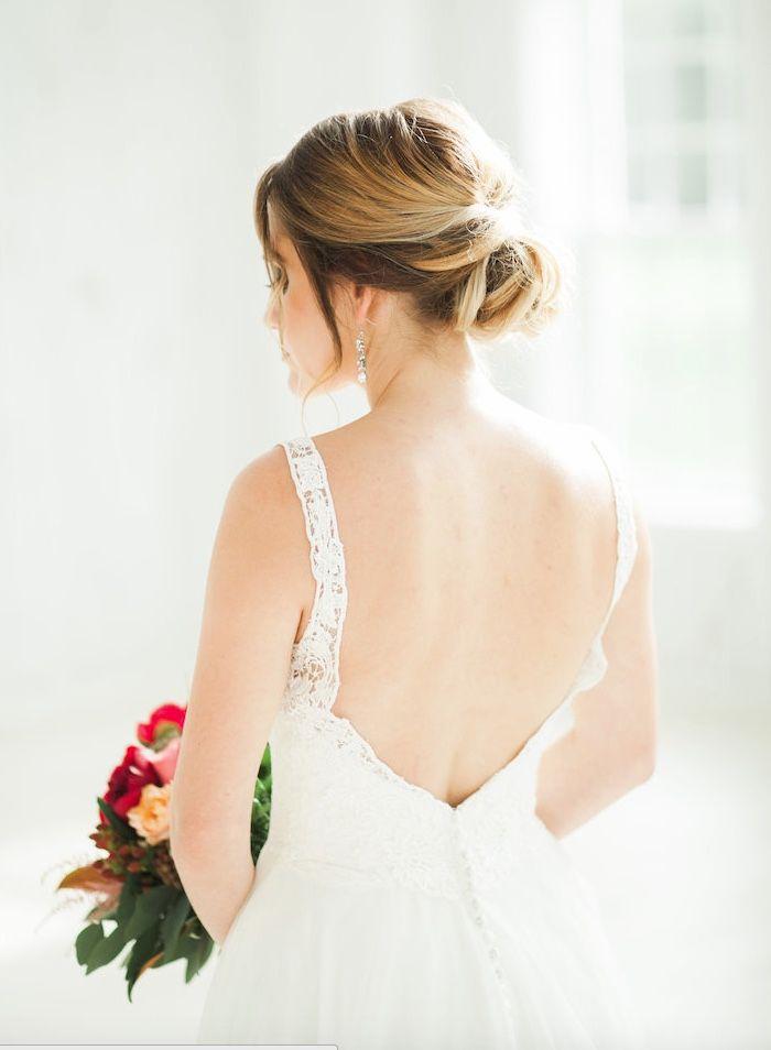 Featured Photographer: Emilie Anne Photo; Wedding hairstyle idea.
