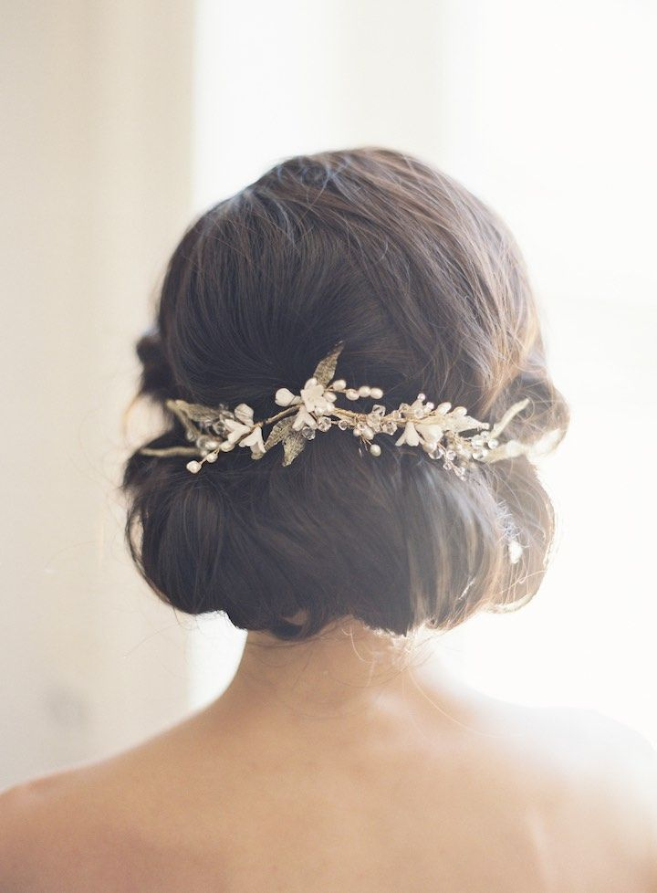 Featured Photographer: Judy Pak Photography; Wedding hairstyle idea.