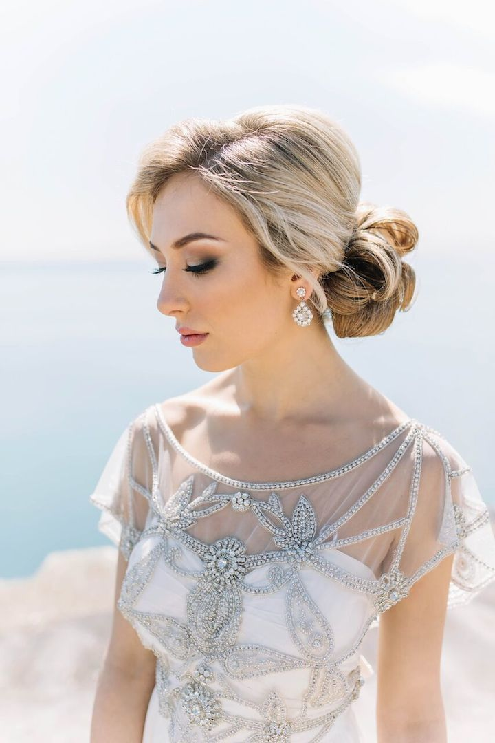 Featured Photographer: Justina Louise Photography; Wedding hairstyle idea.