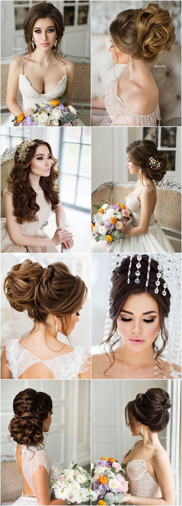 Featured Updo Wedding Hairstyle: Elstile; www.elstile.ru