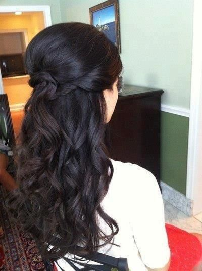 Half up/half down wedding hair