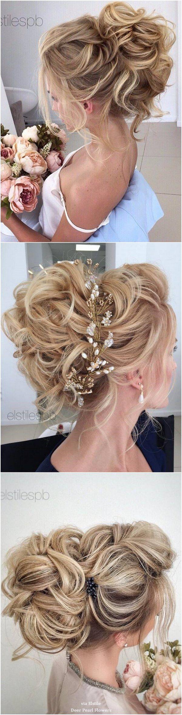 Elstile Long Wedding Hairstyle Inspiration / www.deerpearlflow...