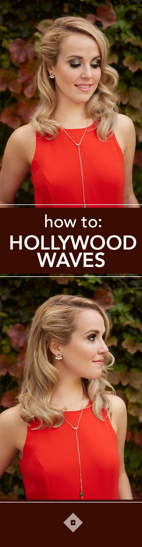 Glamorous Hollywood waves look just as good at your holiday parties as they do o...