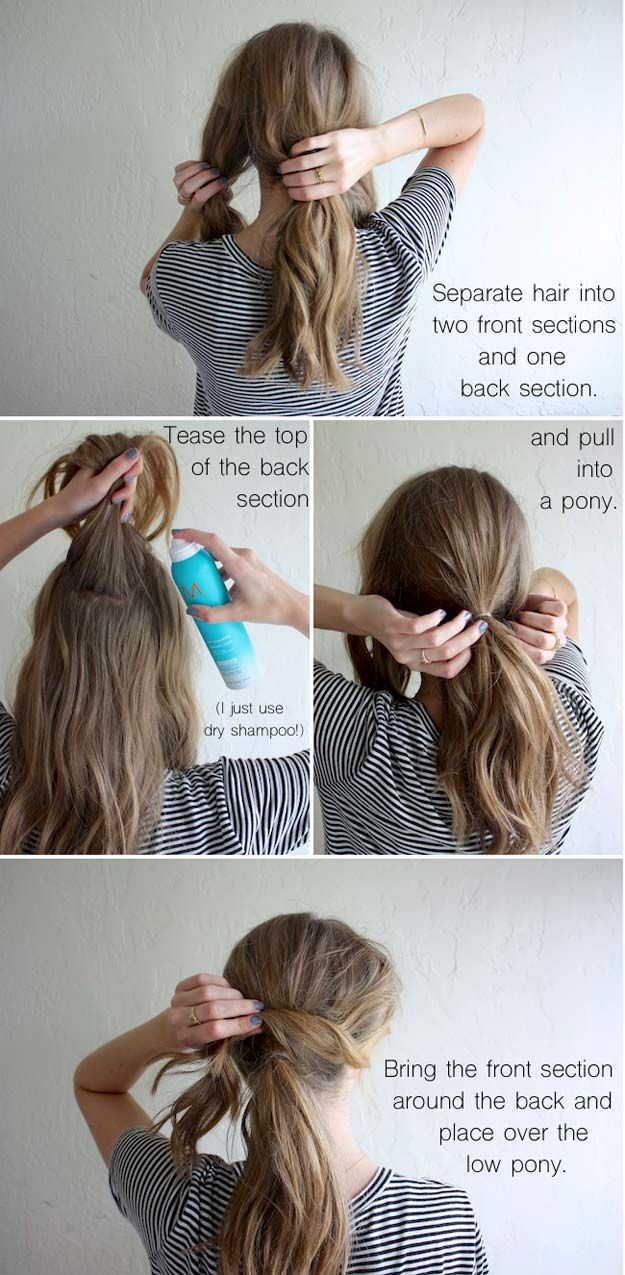 Tips To Instantly Make Your Hair Look Thicker - Hair How-To: Sexy, Messy Ponytai...