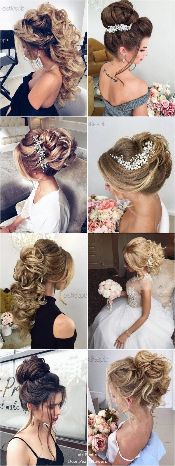 Elstile Long Wedding Hairstyle Inspiration / www.deerpearlflow...