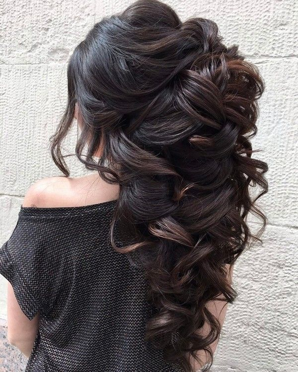 Long wedding updos and hairstyles from Elstile #weddinghairstyle #weddingupdo #w...