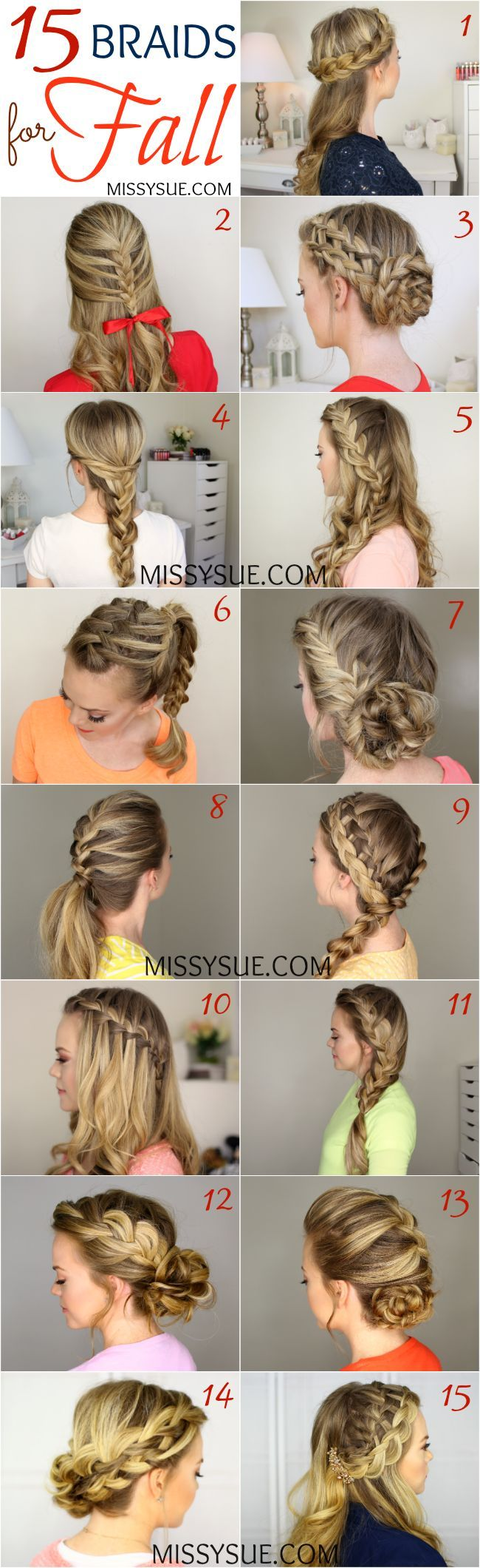 Quick, Easy, Cute  and Simple Step By Step Girls and Teens Hairstyles for Back t...