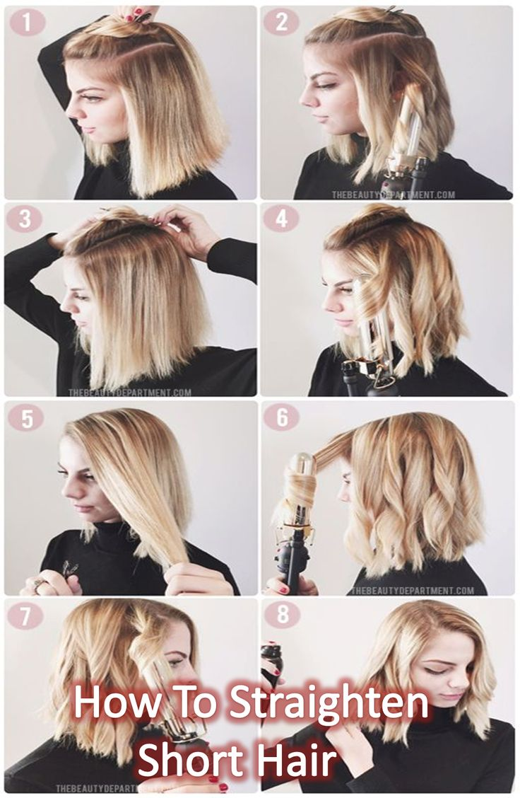 Straightening Short hair is quite easy to be styled and need less times,  but at...