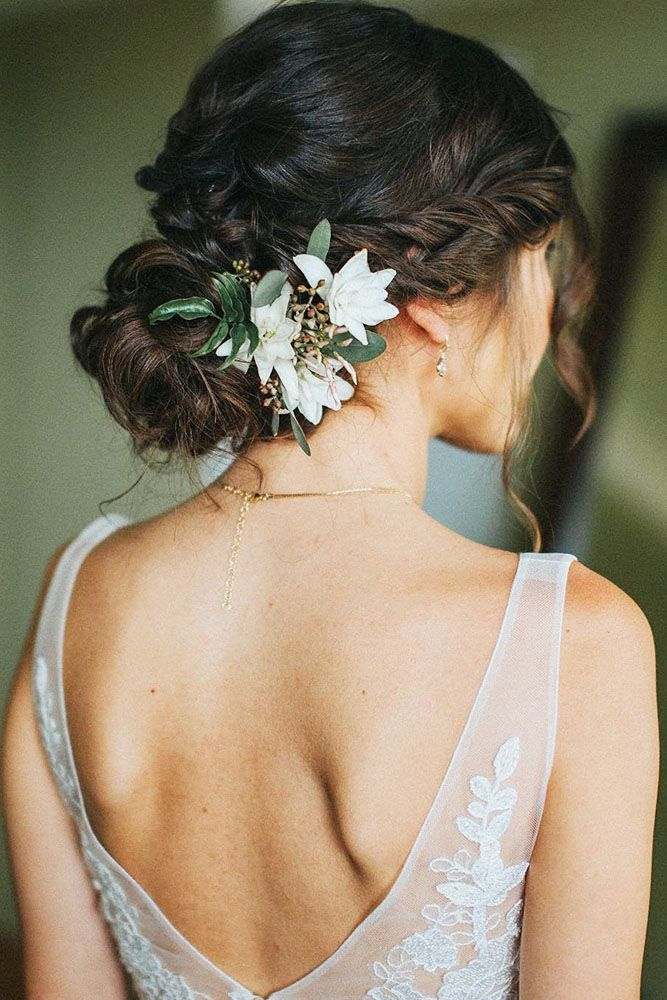 30 Unforgettable Wedding Hairstyles With Flowers ❤ See more: www.weddingforwar...