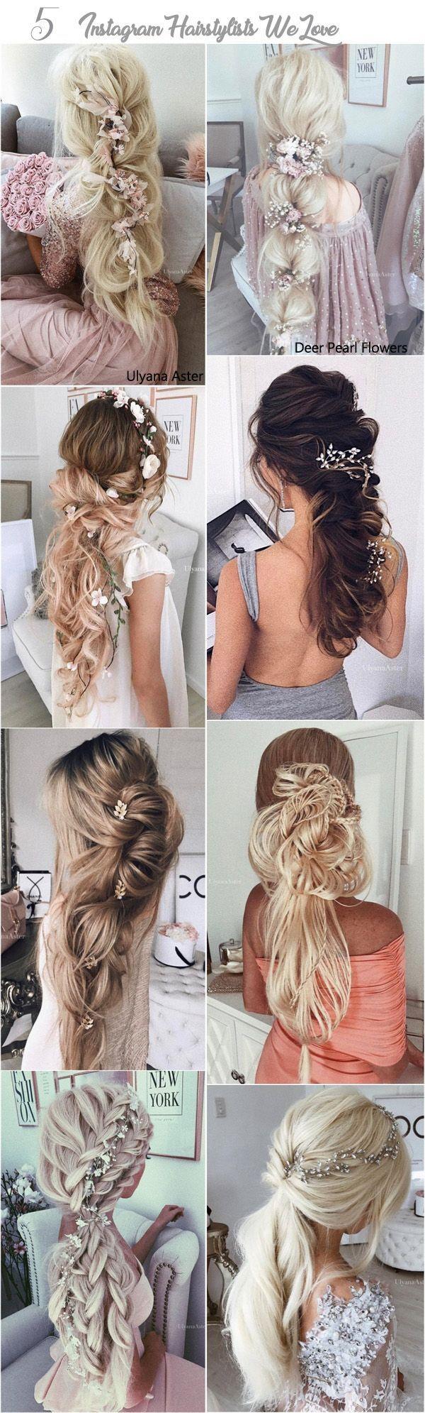 Ullyana Aster Long Wedding Hairstyles / www.deerpearlflow...