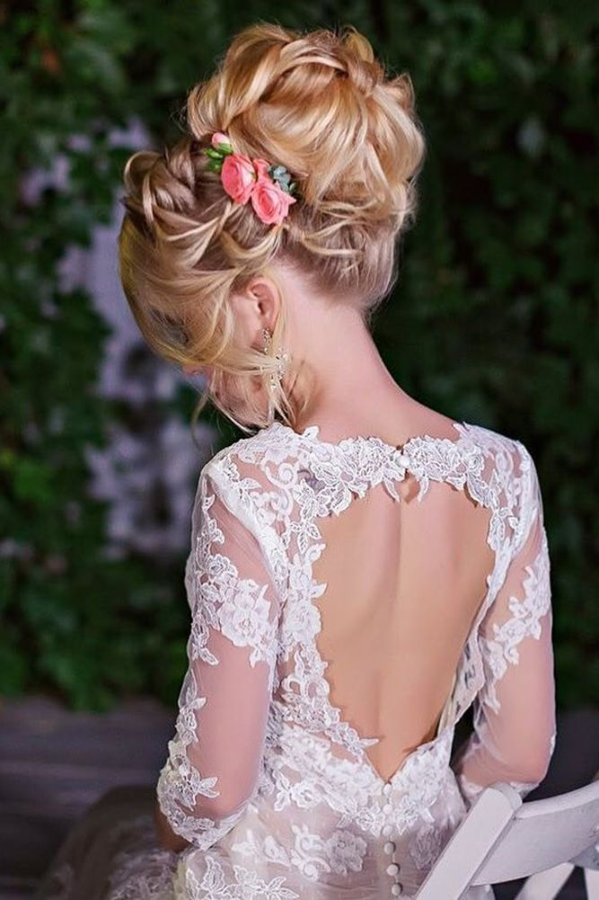 30 Perfect Combinations Of Wedding Hairstyles And Bridal Dresses ❤ wedding hai...