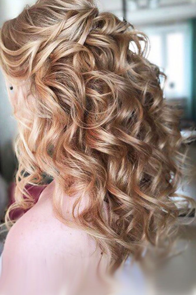 30 Captivating Wedding Hairstyles For Medium Length Hair ❤ It's naturally for ...