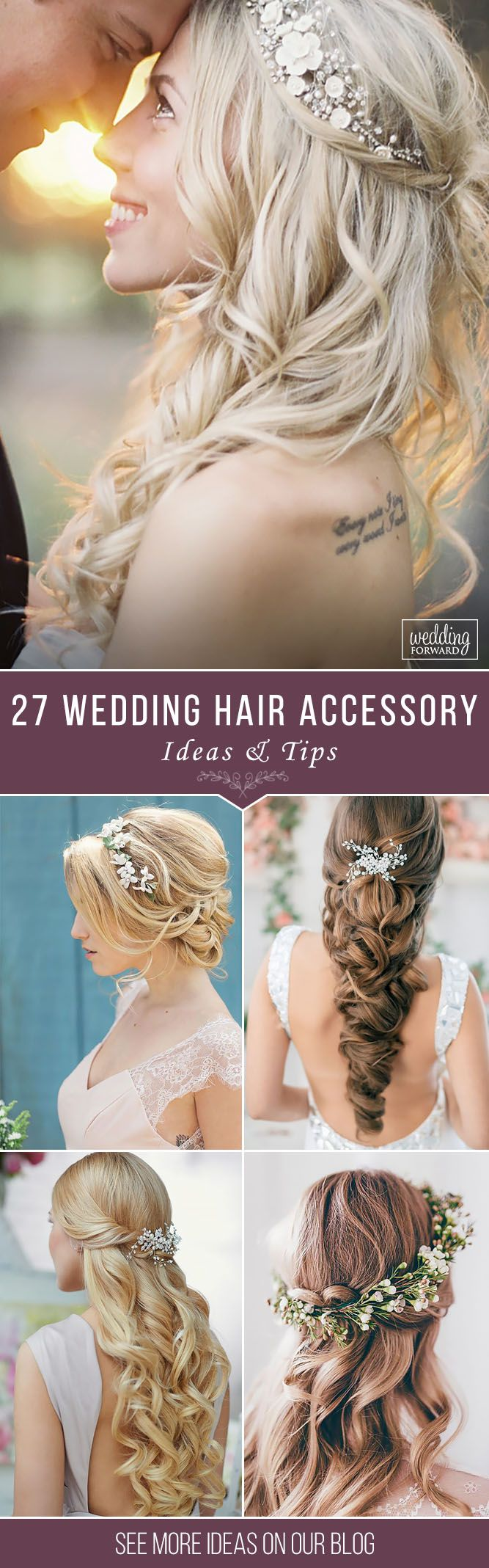 27 Lovely Wedding Hair Accessory Ideas & Tips ❤ Want to add something beautifu...