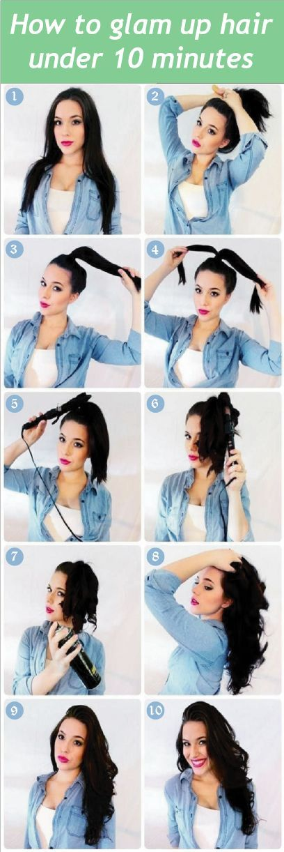 10 Tips On How To Glam Up Hair Under 10 Minutes  Want to get tips on how to glam...