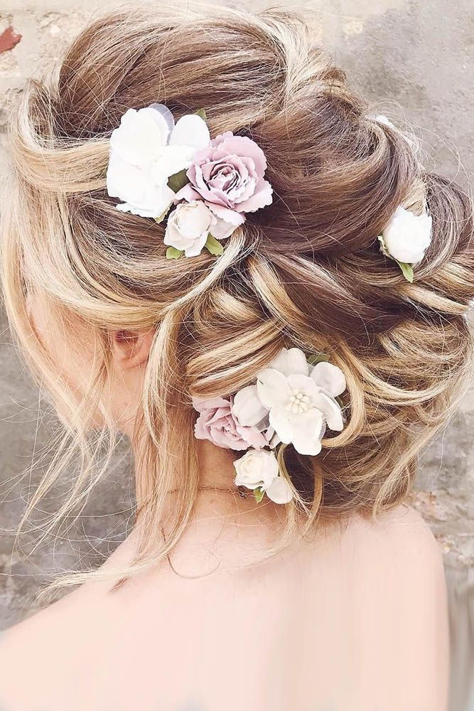 30 Unforgettable Wedding Hairstyles With Flowers ❤ wedding hairstyles with flo...