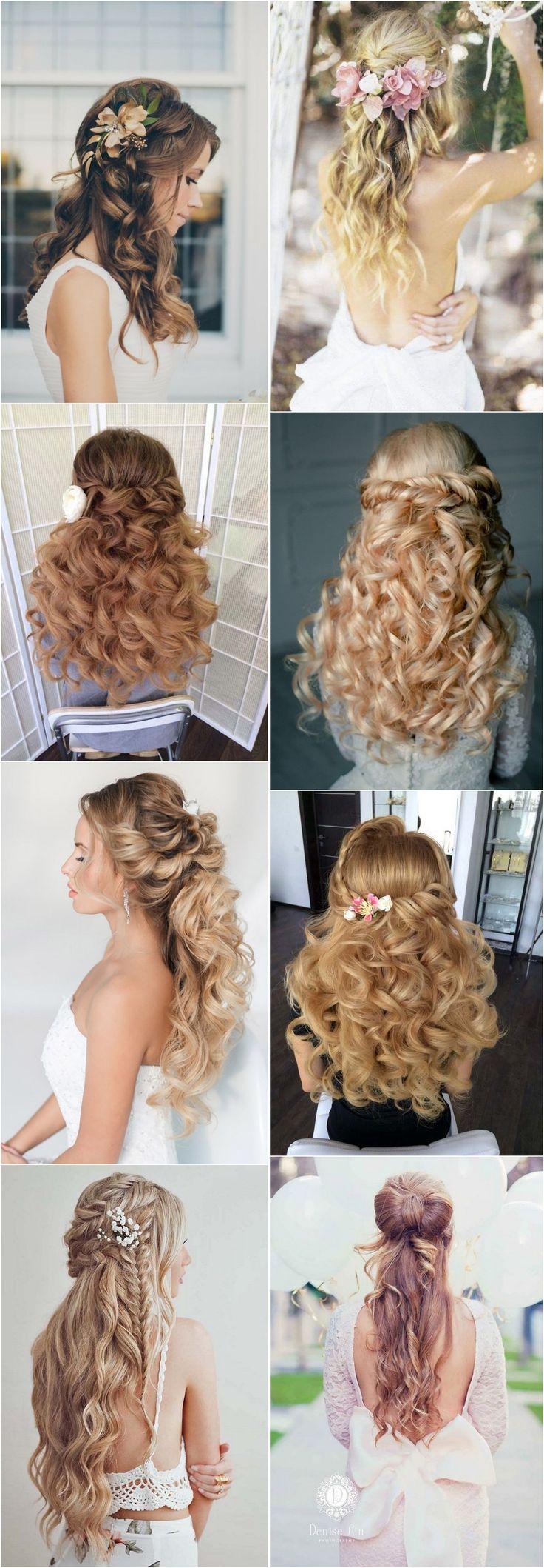 40 Stunning Half Up Half Down Wedding Hairstyles with Tutorial / www.deerpearlfl...