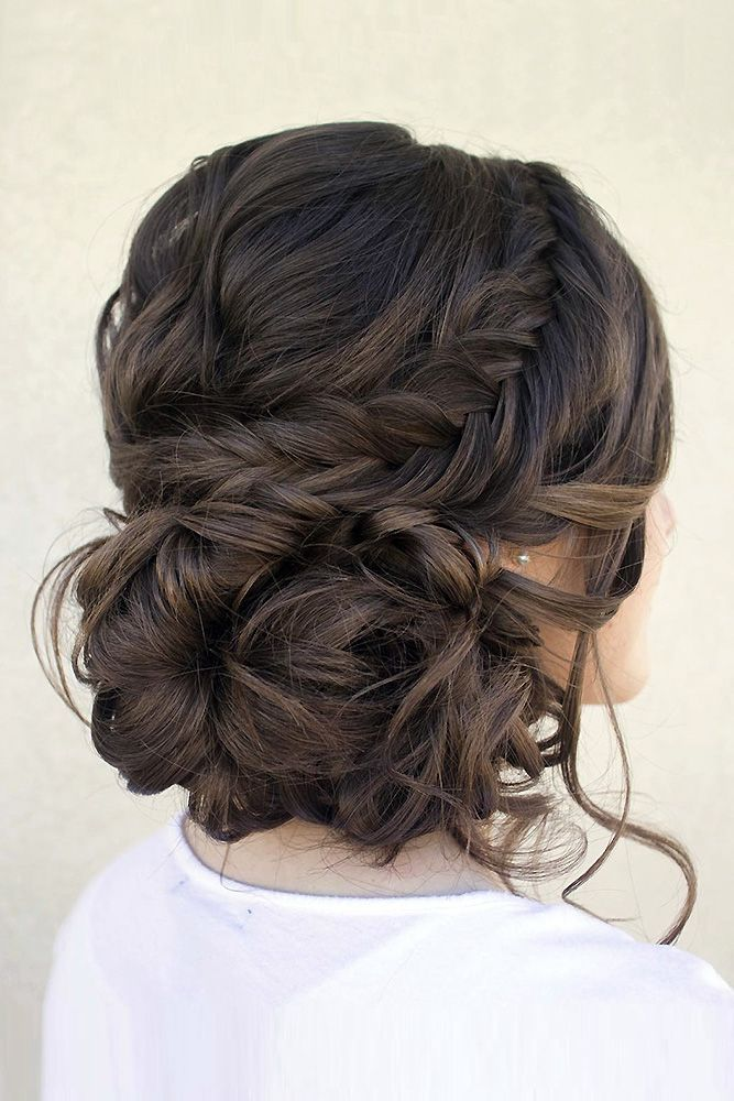 30 Graceful Wedding Updos With Braids ❤ wedding updos with braids messy low ha...
