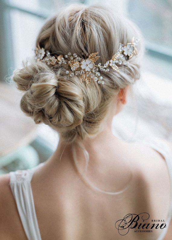 Bridal Hair Comb, Bridal headpiece, Flowers Hair Comb, Wedding Hair Accessories,...