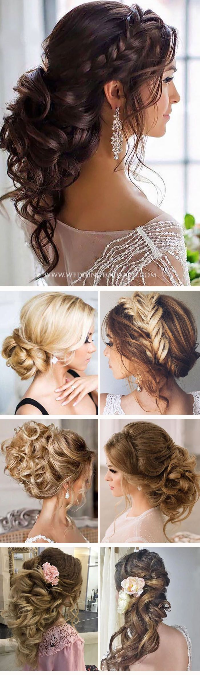 Killer Swept-Back Wedding Hairstyles ❤ If you are not sure which hairstyle to ...