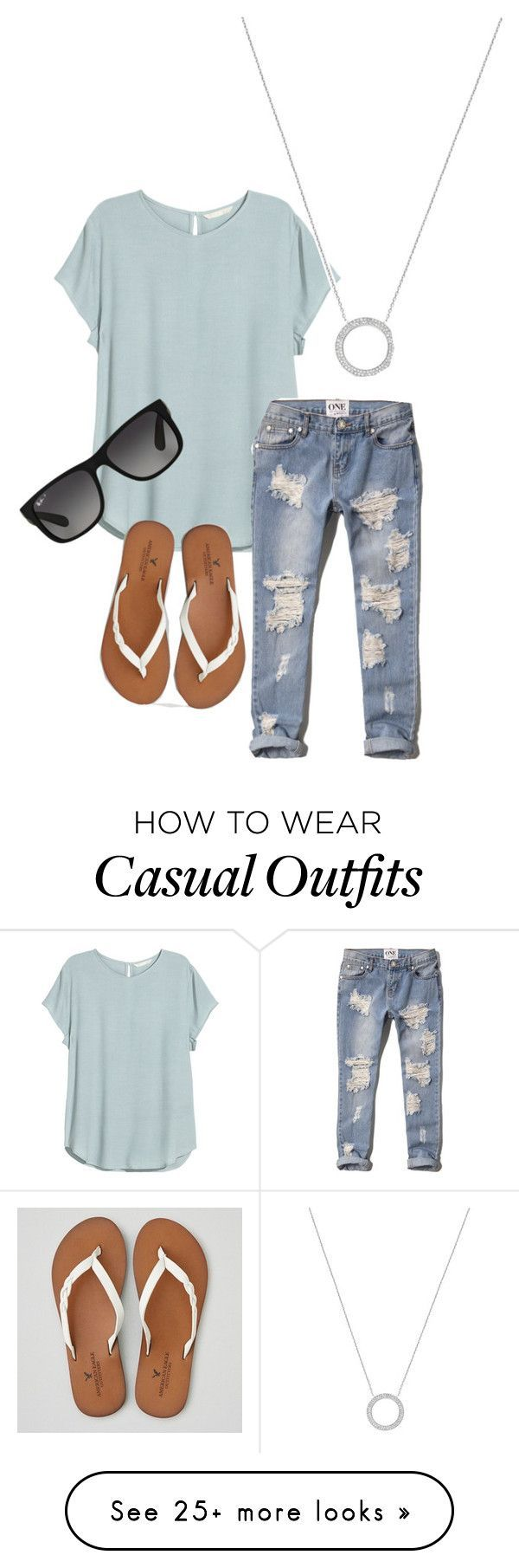 Casual by autumn-thiel on Polyvore featuring HM, Abercrombie Fitch, American Eag...