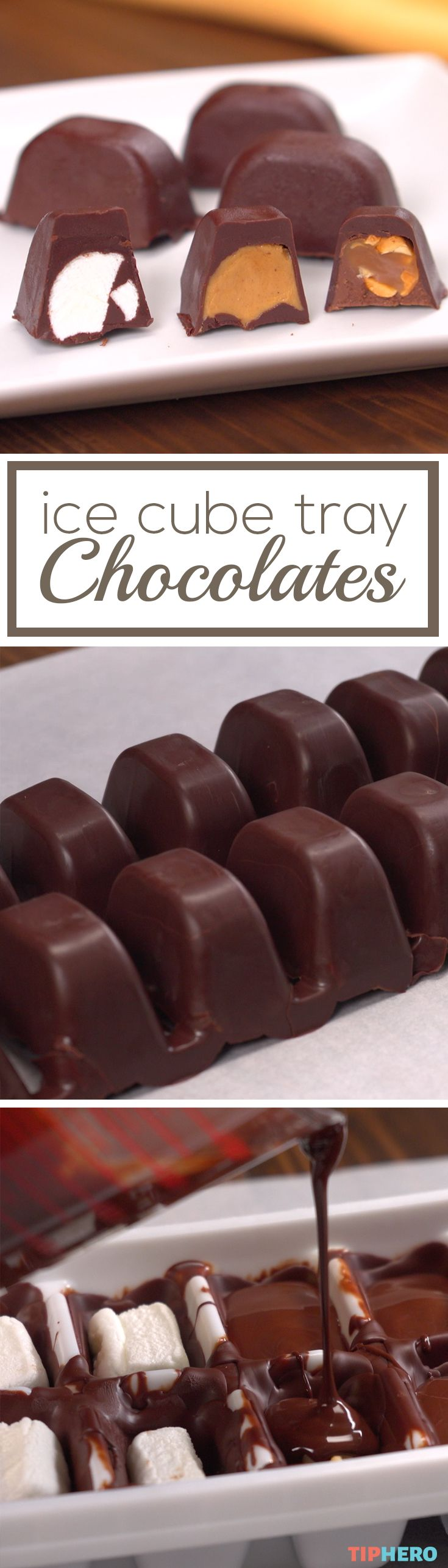 Make delicious, filled chocolates at home with this simple recipe. With a few si...