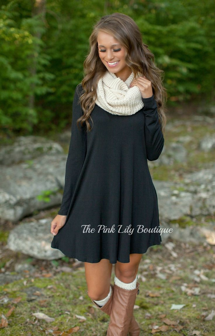 The Pink Lily Boutique - The Simple Things Black Dress , $36.00 (thepinklilybout...