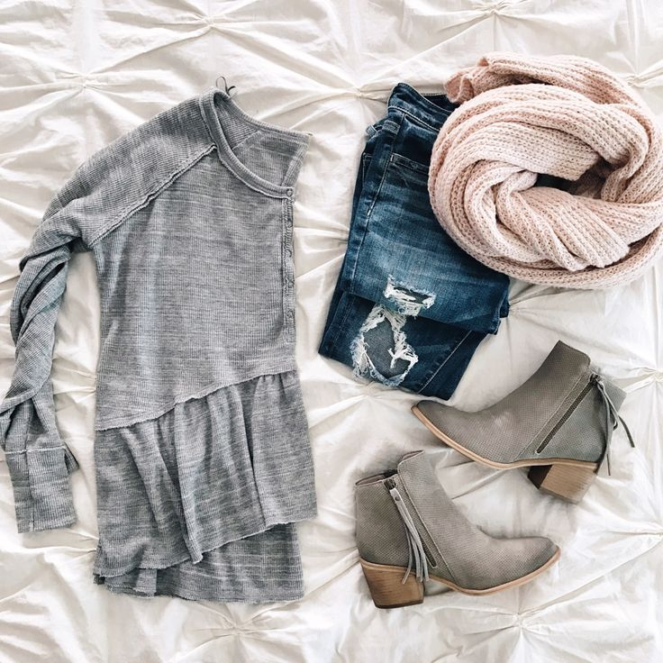 thermal peplum top and pink scarf click through for more details | sunsetsandsti...