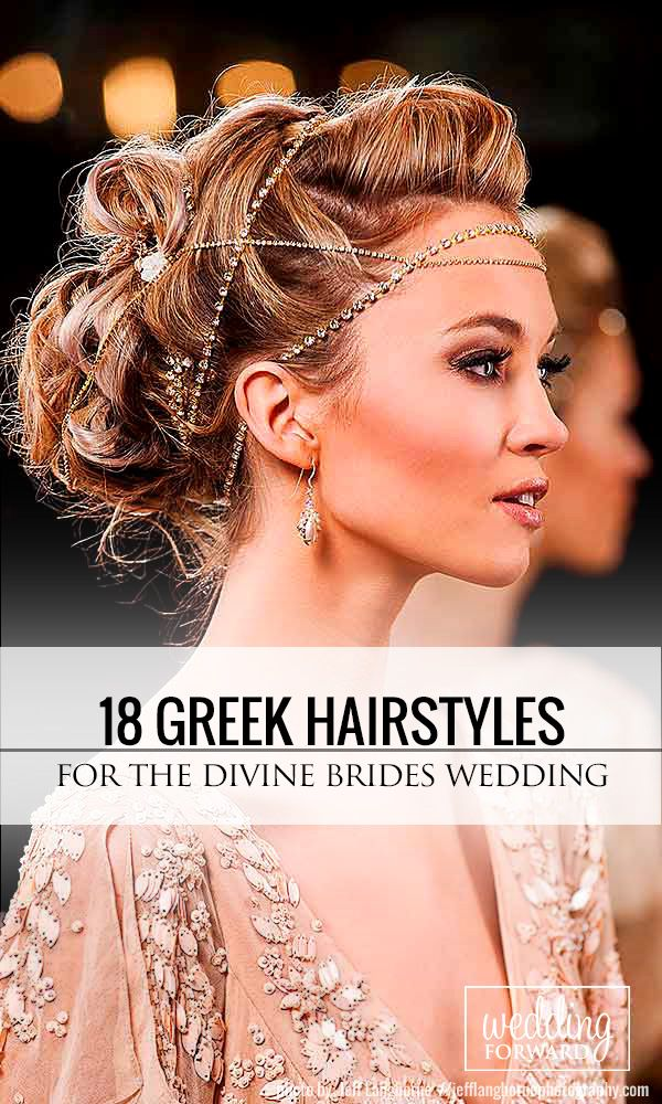 18 Greek Wedding Hairstyles For The Divine Brides❤Luxury, bohemian greek hairs...