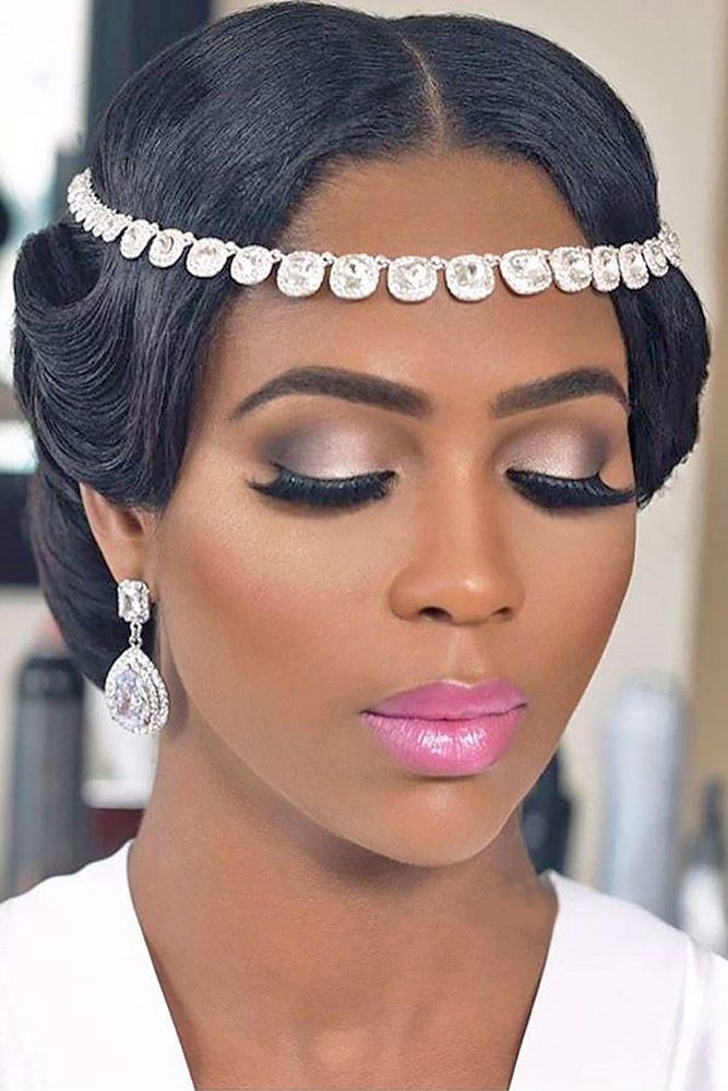 24 Black Women Wedding Hairstyles ❤ It is not a difficult task to pick the sui...