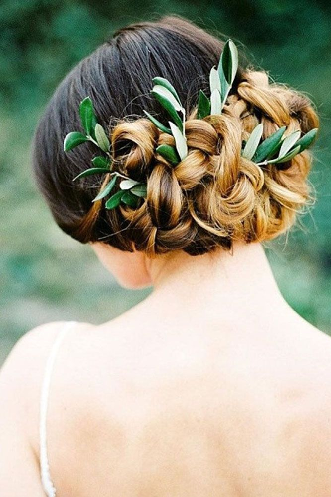 27 Modish Ombre Wedding Hairstyles ❤ ombre wedding hairstyles updo with greene...