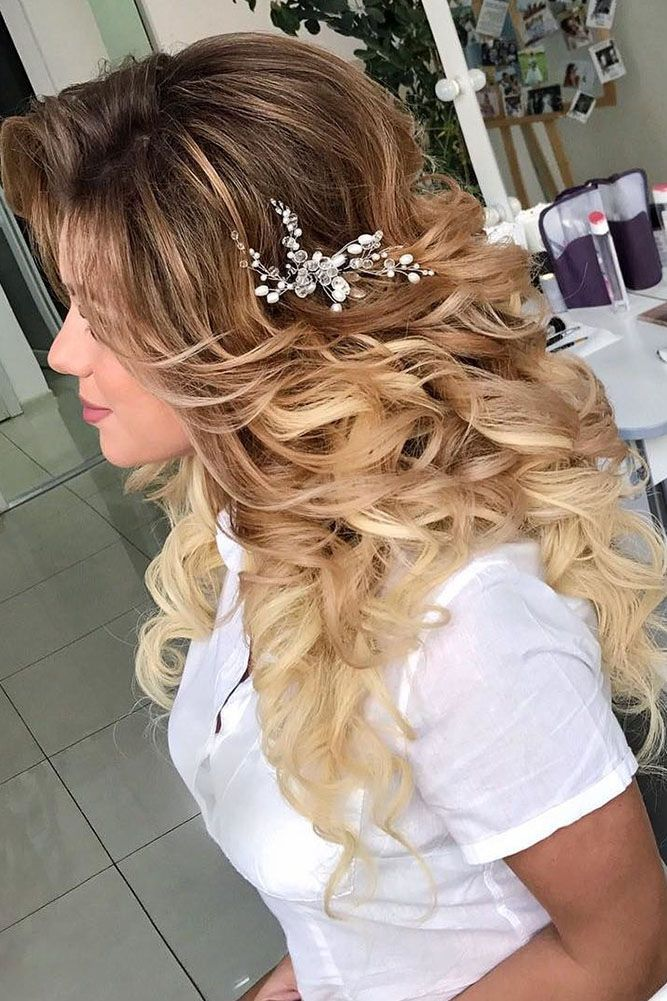 27 Modish Ombre Wedding Hairstyles ❤ ombre wedding hairstyles volume curls pyz...